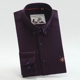 $enCountryForm.capitalKeyWord Canada - Sanfon Roland High Quality New Arrival Cashmere Mens Business Casual Shirts Long Sleeve Regular Fit Solid Color Blue Dress Shirt Men 178001
