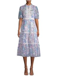 0bda786623e 2018 French Print Blumendruck mit kurzen Ärmeln Rundhalsausschnitt Spitze  Lady Madi Kleider Frauen Kleid MBL7814 Kate Sommer Herbst