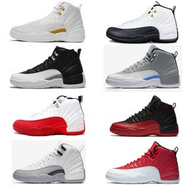 rubber games 2018 - Cheap New Basketball Shoes 12 12s Men Women Bulls taxi Black White Flu Game Playoffs French Gamma Blue Gym Red grey Spor