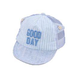 978fd9ec453 Unisex Child Summer Mesh Patchwork Baseball Cap baby letter stripe  Adjustable Soft Brim Sun Protective Hat Kid chapeau MZ5887