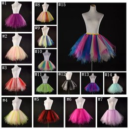 $enCountryForm.capitalKeyWord Australia - Candy color multicolor half-length performance fluffy mesh skirt new fashion big girls women tutu dress dance costumes MMA913
