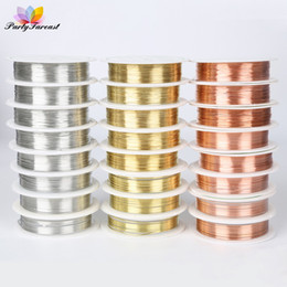Copper wire rolls online shopping - 1 Roll DIY Copper Wire String Cord For Necklace Bracelet Jewelry Making Craft Beads Rope Copper Wires Beading Jewelry Finding