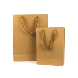 $enCountryForm.capitalKeyWord UK - Natural Kraft Paper Bag with Handle Thick Paper Gift Bags Wedding Party Favor Christmas New Year Shopping Package Bags