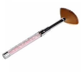 Gel fan online shopping - GRACEFUL PC Nail Art Fan Pen Brush Nail Tools Gel Pen Brush Acrylic Handle Tool Crystal Nail Brush