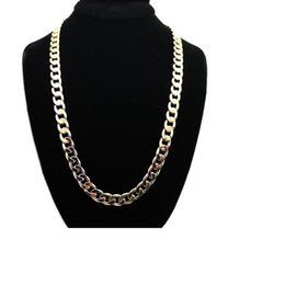 mexican gold chain prices 2018 - Hot sell simple gold silver plated chains necklace high quality best price factory direct wholesale hip-hop rap style lo