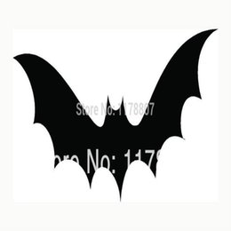 wholesale laptops stickers 2019 - HotMeiNi Wholesale 20pcs lot Bat Sticker Halloween Scary Haunting For Car Rear Windshield Truck Suv Laptop Art Wall Etc