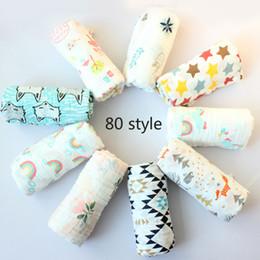 80 стиль детское одеяло из муслина Единорог фламинго INS детское пеленание одеяло одеяло полотенца детское весна лето детское младенческое 115 * 115см B на Распродаже