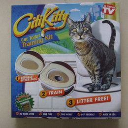 Citi Китти Pet туалет тренер щенок кошка туалет помет тренер кошка обучение комплект падение доставка розничная коробка