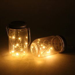 $enCountryForm.capitalKeyWord NZ - Solar-powered Plastic Jar Lights ( Jar & Handle Included),10 Bulbs Warn White Jar Hanging Light,Garden Outdoor Solar Lanterns