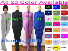 spandex zentai mummy Australia - Sexy 23 Color Lycra Spandex Mummy Suit Costumes Sleeping Bags Unisex Sexy Body Bags Sleeping Bags Mummy Costumes With Internal Sleeves M326