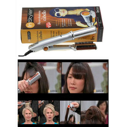 $enCountryForm.capitalKeyWord NZ - Drop Ship Epack Professional Hair Curling Iron Ceramic Triple Barrel Hair Curler Irons Wave Waver Styling Tools Hair Styler Wand