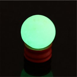 glowing crystal balls UK - 34-35mm Natural Luminous Stone Calcite Green Glow in the Dark Sphere Ball Luminous Crystal Ball Home Decor