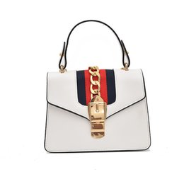 Women Bags Luxury Handbag New Designer Casual Wallet Panelled Flap Ladies  Metal Chains Small Sling Shoulder Top-handle Bags Hot 7d99c7e064c3c