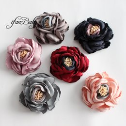 2017 Hair Flowers Girls Kids Women Hair Accessories Burned Singed Hair Flower Satin Fabric Flowers 30pcs Girl's Hair Accessories Apparel Accessories