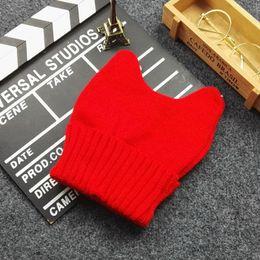 $enCountryForm.capitalKeyWord NZ - 2016 Fashion knitting wool Women Girls Lovely Autumn winter Warm Hat little Devil Angle Knitted Cap Hats Cat ears Style