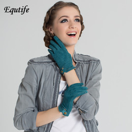 29f09952dd5 Top-grade Women Brand Pig Suede Gloves With Snap Button Fashionable  Contrast Color Short Wrist Glove Keep Warm Mittens For Women. US ...