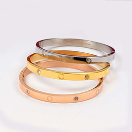 Chinese  19CM Stainless Steel Eternity Bracelets Buckle Five-generation Bangles Ordinary Corrosion Internal Standard Lover Forever Bangles For Women manufacturers