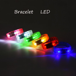 Wholesale New Music Activated Sound Control Led Flashing Bracelet Light Up Bangle Wristband Club Party Bar Cheer Luminous Hand Ring stick OTH911