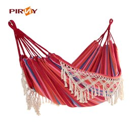 ultra large 2 person cotton hammock with tassel garden swing bed outdoor double hanging chair euro standard discount hammocks chairs swings   2018 hammocks hanging swings      rh   dhgate