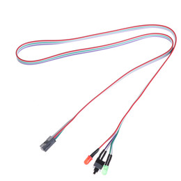 Discount atx power - 2Pcs Cable With HDD LED Light For PC Computer Case Desktop ATX Power On Reset Switch Wholesale