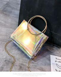 $enCountryForm.capitalKeyWord Canada - Women Plastic Messenger Handbag Transparent Laser Handbag Clutch Shoulder Crossbody Bag Chain Bag Clear Bag Evening Purse