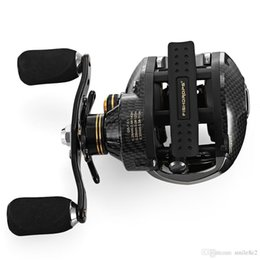 black fish bait UK - Lb200 7.0:1 Double Brake System 18BB Baitcasting Reel Left Right Hand Saltwater Bait Casting Reel Fishing Reels Spinning Reels Left Right