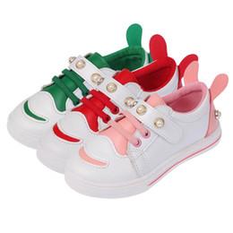 a980655b8 2018 Nova Primavera Crianças Meninos Meninas Sapatos Casuais Orelhas de  Coelho Bonito Respirável Sapatas Do Esporte Da Forma Da Menina Plana Tênis  # 11