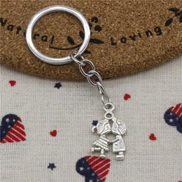 $enCountryForm.capitalKeyWord NZ - 30pcs Fashion Diameter 30mm Metal Key Ring Key Chain Jewelry Antique Silver Plated lover boy girl 16*27mm Pendant