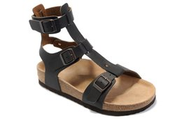 ¡¡¡Envío gratis!!! Corcho Sandalias Gladiador Gladiador de la Mujer Primavera Verano Al Aire Libre Zapatos Planos Casuales Zapatos Mujer Tallas grandes 35--40 en venta
