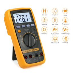 Digital Dc Temperature Meter NZ - Digital Multimeter DC AC Voltage Current Meter Resistance Capacitance Frequency Diode Temperature Tester Transistor hFE Measure