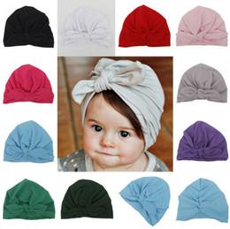 Cute Newborns Bowknot Cap Girls boys 1-6 Year Baby Photography Turban Caps  Accessories Kids Rabbit Ears Beanie Hat LC638 76332cec027b
