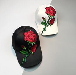 5fd286be962 Women s Cap Ball Caps Red Rose Flower Summer Snapback Hat For Men Women  Unisex Chinese Style Baseball Cap Female Sun Club Party