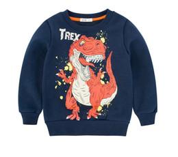 $enCountryForm.capitalKeyWord UK - 2019 autumn and winter Kids Infant Girls dinosaur Sweatshirts Kids Boys Fleeces Hoodies Long Sleeve Cotton Children Boys T-shirt clothes