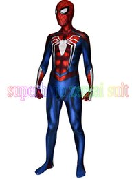 Discount new ps4 games - ostumes Accessories Cosplay Costumes NEW PS4 INSOMNIAC SPIDERMAN COSTUME 3D Print Spandex Games Spidey Suit Fullbody Spi
