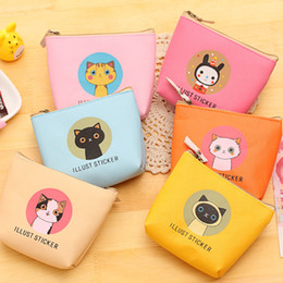 $enCountryForm.capitalKeyWord Australia - New Cartoon Cat Waterproof PU Wallets Holder Kids Favor Supplies Wallet Card Storage Bag Zipper for Headset Gift Mini Coin Purse bag