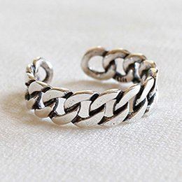 $enCountryForm.capitalKeyWord Canada - 2018 new Korean version of the silver jewelry factory outlets do the old retro S925 sterling silver chain ring opening ring
