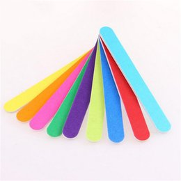 Chinese  10pcs lot Candy-colored monochrome double-sided nail file Nail grinding strip Manicure grinding manufacturers