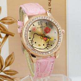 c57db73e170 2018 Fashion Brand Womage Watch Women Girls Watches Hello Kitty Watches  Rose Gold Rhinestone Quartz reloj mujer 2018