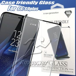 Discount screen protect 3d - For S10 5G S9 Plus Case Friendly 3D Curve Full Cover Tempered Glass Screen Protector For S7 Edge Glass Protect Film With