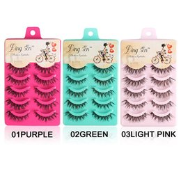 DINGSEN 5 Pairs Natural Thick Full False Wimpern Super Long Criss Cross Wimpern Glamour 3D Strip Lashes Crisscross im Angebot
