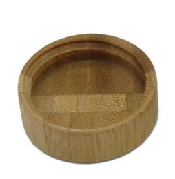 BamBoo jar online shopping - 200pcs ml bamboo lid frosted glass jar g wax cosmetic cream storage container