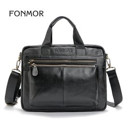 ac9ac8c14 FONMOR Genuine Leather Men Totes Bag Casual Business Men's Handbags Cross  body Bags Briefcase Messenger 2016