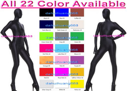 full body cosplay Canada - Sexy 23 Color Lycra Spandex Suit Catsuit Costumes Unisex Full Bodysuit Outfit Unisex Body Suit Halloween Fancy Dress Cosplay Costumes DH047