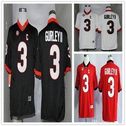 684ee4d14ba Todd Gurley II 3 Men s College Football Jersey Georgia Bulldogs Limited  Football Jerseys White Red Black Good Quality Size S-XXXL