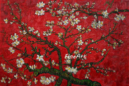 $enCountryForm.capitalKeyWord NZ - hand-painted oil Branches of an Almond Tree in Blossom by Van Gogh Famous handmade canvas oil painting reproduction artwork unique gifts