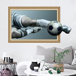 Chinese 3d Wall Stickers Australia - 3D Stickers Football Sports Club Wall Stickers Wallpapers Waterproof Can Be Removable Living Room Background Decorative Murals Decals
