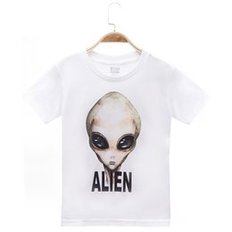 alien clothes NZ - 2018 New Product Children Clothes Kids T-shirts E.T. Alien Print 100% Cotton Child Boy T Shirt Baby Girls Top Tee Free Shipping