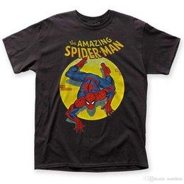 Moda Engraçado Tops Tees Oficial Marvel Comics O Incrível Homem-Aranha T-shirt Spotlight S-3XL top Imprimir Tops de Verão Tees venda por atacado