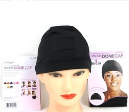 Wholesale Glueless Spandex Dome Wig Cap for Making Wigs Adjustable invisible Stretch Hairnets Nylon Weaving Caps Black Color Wigs Accessories
