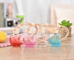 $enCountryForm.capitalKeyWord Canada - Apple Shape Glass Perfume Pendant Car-styling Auto Ornament Colorful Empty Air Freshener 12ml For Essential Oils Car Perfume Bottle
